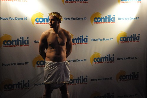 Greek God at the Contiki VIP Euro Bash