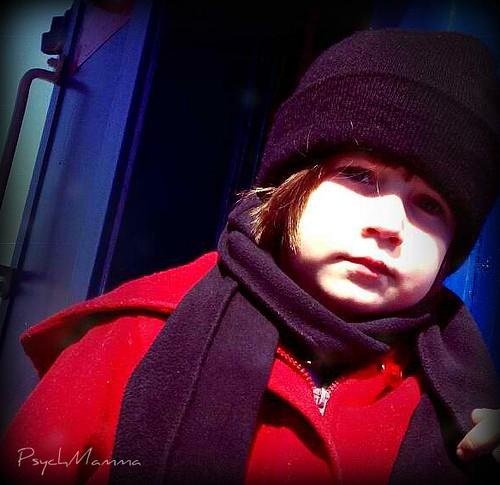 Red Coat Girl (Serious)