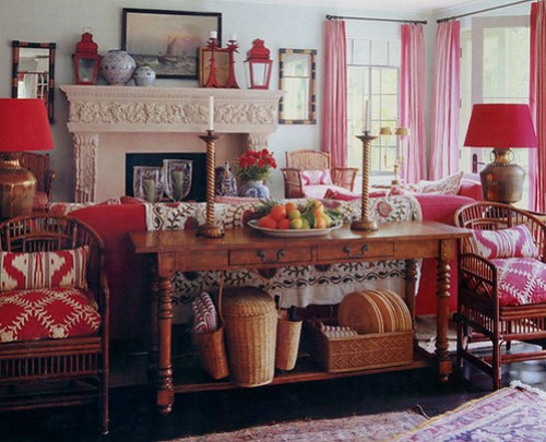 mary mcdonald red living room
