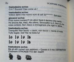 """Stefano Moretti, Scappare fortissimo, Einaudi 2011; [resp. grafica non indicata], alla cop.: """"foto David Goldman / Gallery Stock"""", p. 82 (part.), 1"""