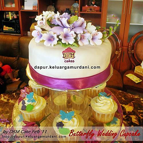 Butterfly Wedding Cupcake Dkm Cakes Toko Kue Online Jember