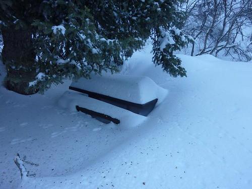Sundance Snowshoeing 4 - Picnic Table