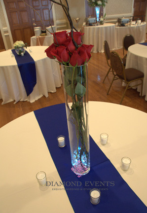Tall Rose Centerpiece with Branches
