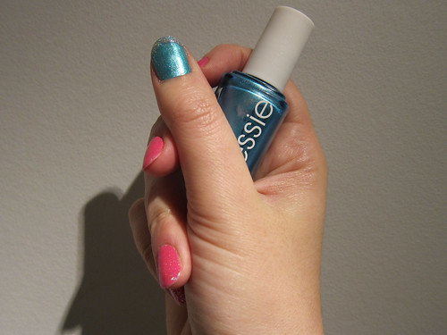 Blue + Glitter Tips