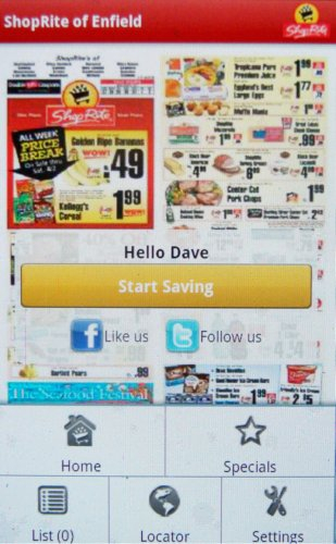 Daves Application Store Grocery