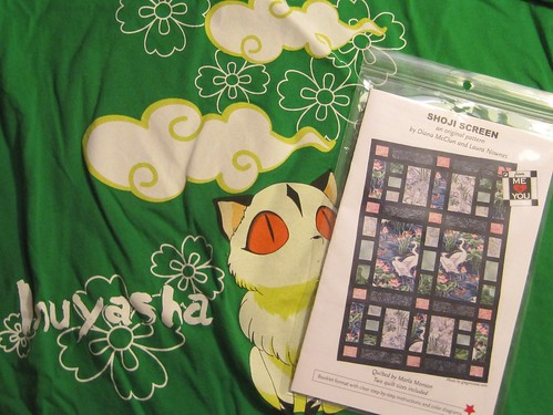 The InuYasha quilt - I still need t-shirts