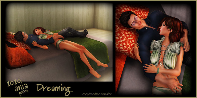 Dreaming couples pose