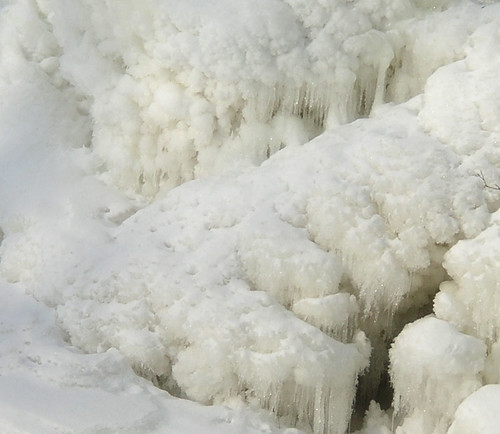 Closeup of the Frozen Falls