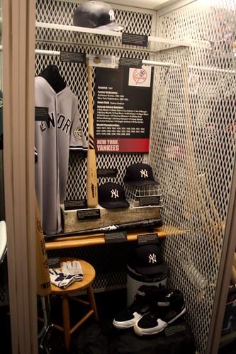the Yankees locker