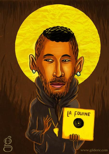 Pop Icons : La Fouine - Caricature par Gildéric