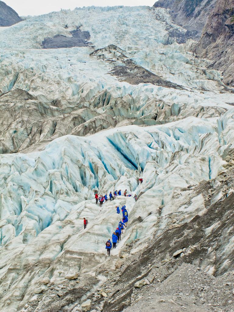 People on the Frans Joseph Glacier