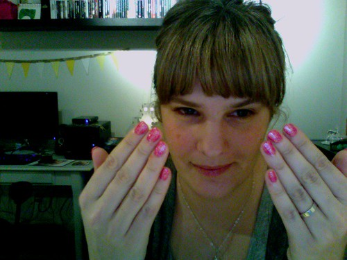 Pink Nails, SO Tacky