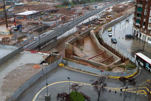 Triangulo ferroviario - Lluvia - 15-03-11