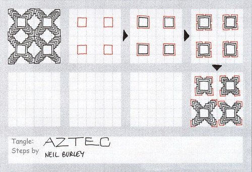 Aztec - tangle pattern by perfectly4med