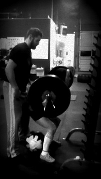 spotting 130 lb squat