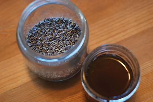 jar of lavender, jar of honey