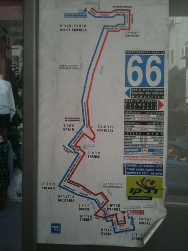 המסלול הבינלאומי של קו 66