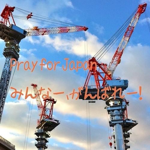 みんなー、がんばれー! #prayforjapan #crane