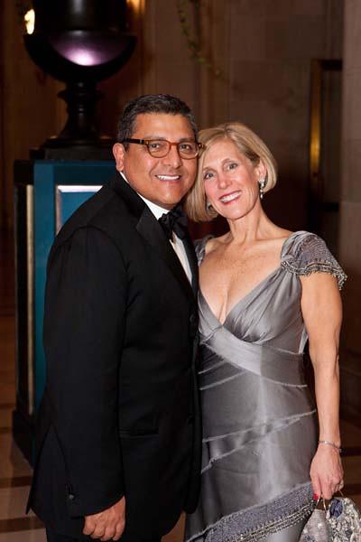 Riccardo Benavides, Kathy Huber (Gala Decor Chair)