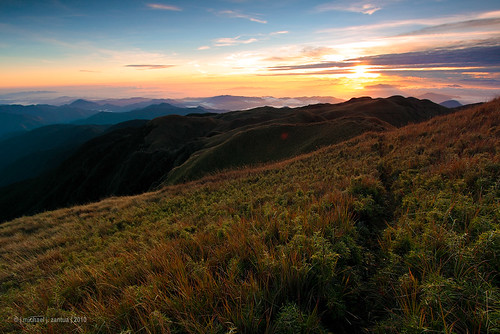 image of sun rising, view from a Philippine mountain