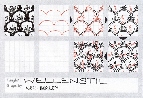 Wellenstil - tangle pattern by perfectly4med