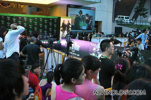 Lots of media were present too