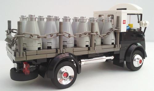 50's style Milk Churn Truck