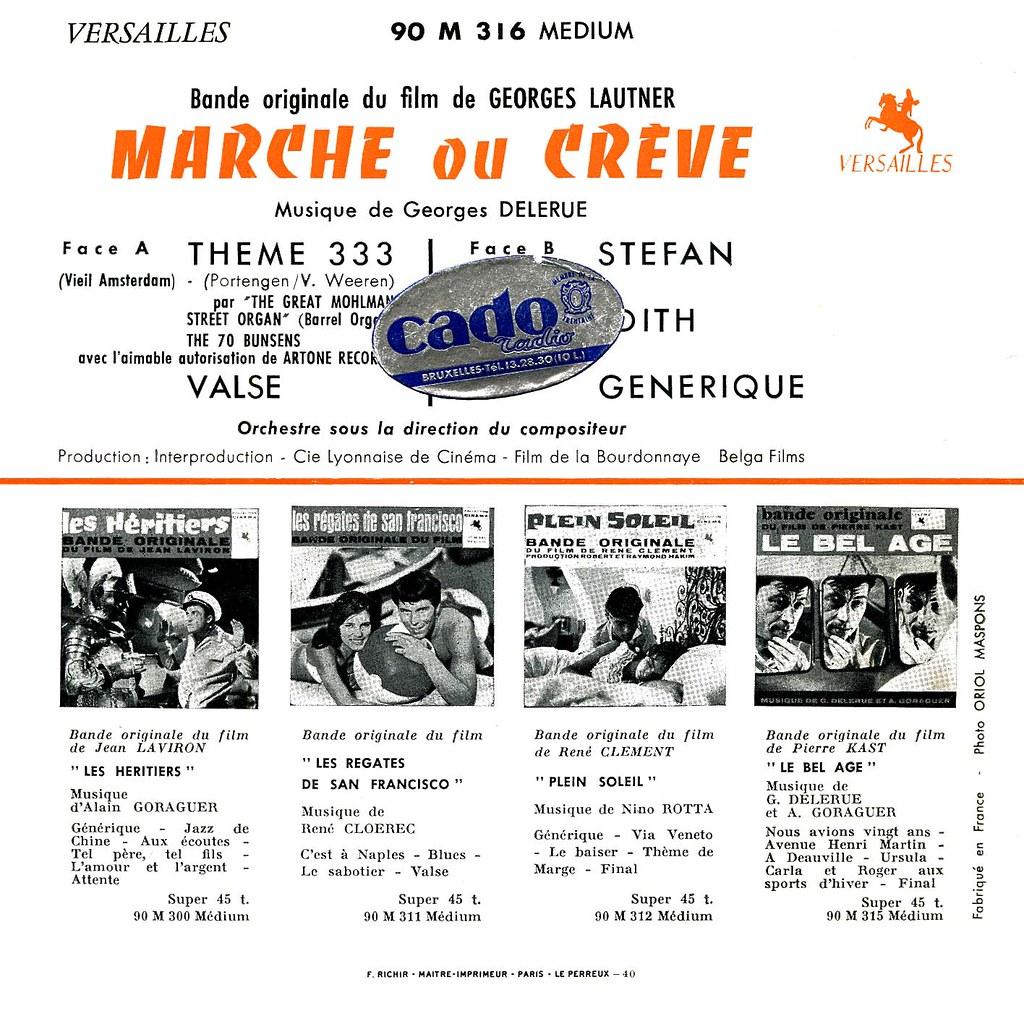 Georges Delerue - Marche ou crève