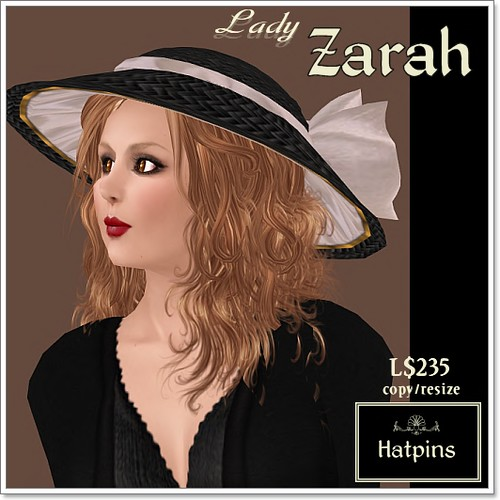 Hatpins - Lady Zarah - Sixty Linden Weekend