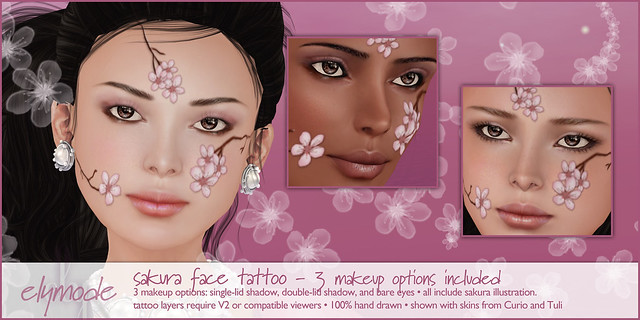 Sakura Face Tattoo for the Pacific Crisis Fundraiser