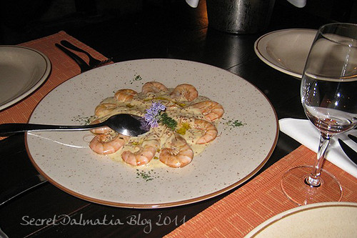 Shrimp in mustard sauce