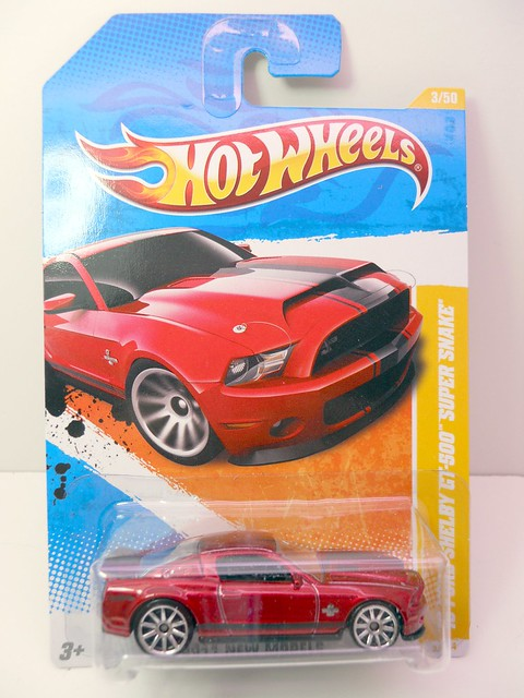 hot wheels 2007 ford shelby gt-500 super snake red (1)