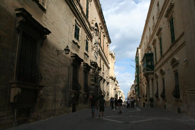 North part of Trik il-Merkanti Street in Valletta Malta