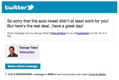 George Takei DM