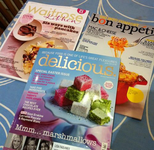 Delicious, Waitrose Kitchen and Bon Appetit food magazines
