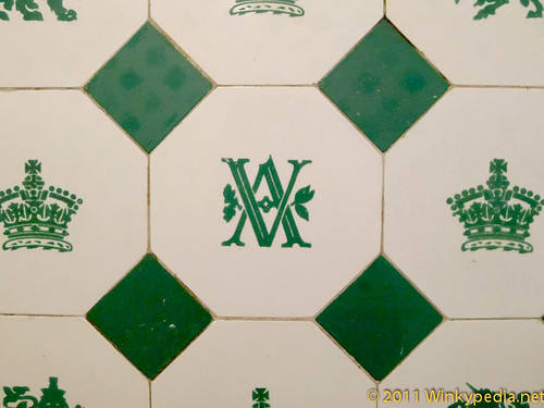 Original Victorian tiling at Victoria and Albert Museum