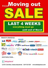 Kiddyplace Moving Out Sale till Mar 2011