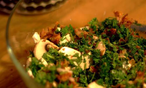 parsley and pancetta.