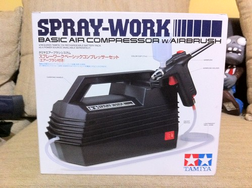 Tamiya Airbrush Spraywork Kit with compressor