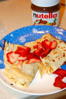Nutella crepes!