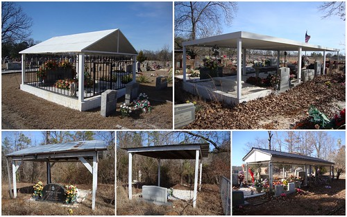 Morris Chapel Catholic Church Cemetery Graveshelters, Lawrence County AL