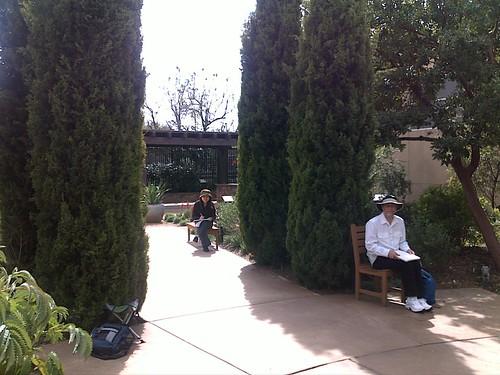 in the arboretum terrace
