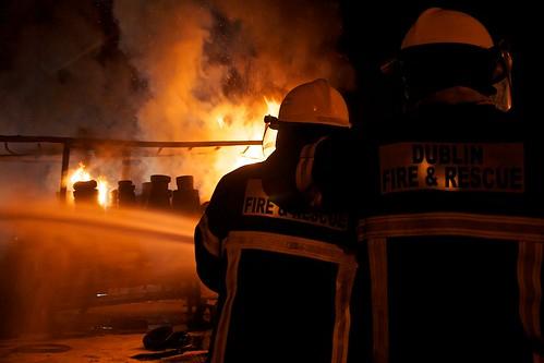 Fire down by Renault Trucks, Longmile Rd by Ian Keegan