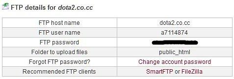 informasi FTP yang harus dimasukkan FileZilla nantinya
