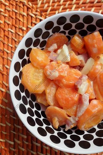 Régal de carottes aux lardons et à la crème / Carrot, Bacon and Cream Delight