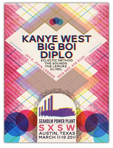 Kanye West at SXSW 2011 Gigposter