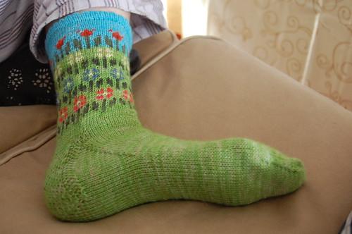 Longing for Spring sock