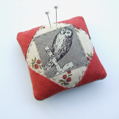 An owly pincushion