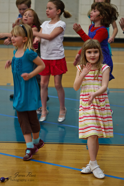 The little one during her dance number.
