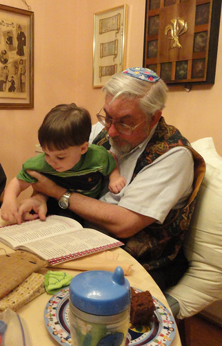 Shugie and Papa at 1st Night Seder